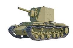 The old Russian tank. Stock Photos