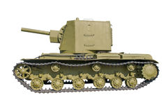 The old Russian tank. Stock Image