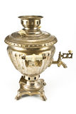 Old russian tea samovar Stock Photos