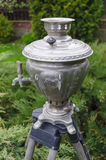 Old russian tea samovar Stock Photography