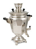 Old russian tea samovar isolated on white Royalty Free Stock Photos