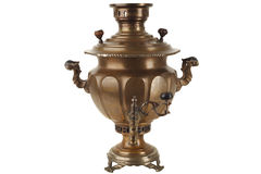 Old russian tea samovar Royalty Free Stock Photography