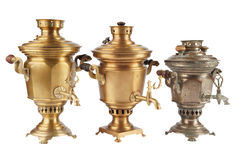 Old russian tea samovar Royalty Free Stock Photo