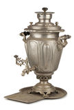 Old russian tea samovar with tray Royalty Free Stock Images