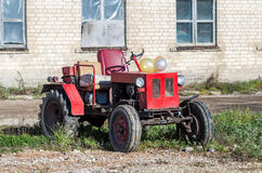 Old russian tractor Royalty Free Stock Photo