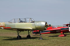 Old russian trainer airplane Royalty Free Stock Photos