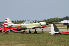Old russian trainer airplane Royalty Free Stock Photo