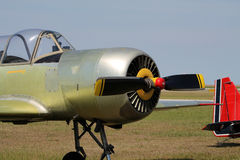 Old russian trainer airplane Royalty Free Stock Images