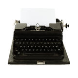 Old russian typewriter and paper Stock Images