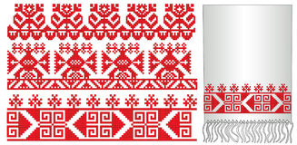 Old russian ukrainian embroider pattern Royalty Free Stock Photo