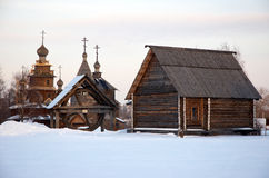 Old russian village Royalty Free Stock Photos
