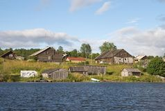 Old Russian village Stock Photo