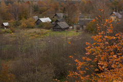 Old russian village Stock Photos