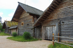 Old russian village Stock Photography