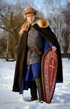Old Russian warrior historical reconstructor Royalty Free Stock Photography