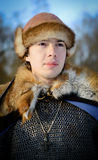 Old Russian warrior historical reconstructor Royalty Free Stock Photos