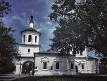 Old Russian church stock images