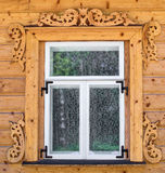 Old russian window. Royalty Free Stock Images