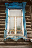Old Russian Window Frame Royalty Free Stock Images
