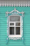 Old Russian window in Mariinsk Stock Photos