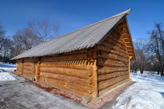Old Russian wooden house, museum Kolomenskoye, Russia, Moscow Royalty Free Stock Image