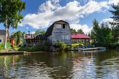 Old Russian wooden house Stock Photography