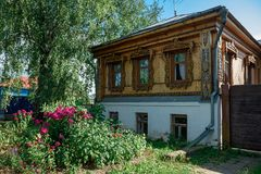 Old Russian wooden residential building. Suzdal, Russia Stock Photo