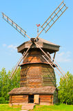 Old Russian wooden windmill. Stock Photos