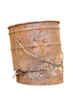 OLD RUST BUCKET. On white background Stock Image