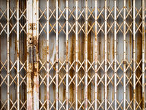 Old rust fold Steel door Stock Image