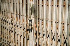 The old rust fold steel door Royalty Free Stock Image