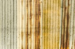 Old rust galvanized iron roof plate Royalty Free Stock Image