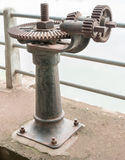 Old rust gear of sluice Royalty Free Stock Photography