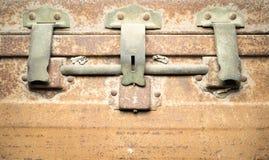 Old Rust Iron box Stock Photos