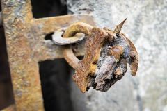 Old rust lock destruction metal Royalty Free Stock Photo
