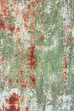 Old rust metal sheet painted texture. With cracked paint background Stock Photos