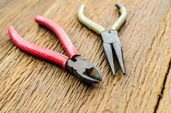 Old rust pliers and pincer Royalty Free Stock Photo