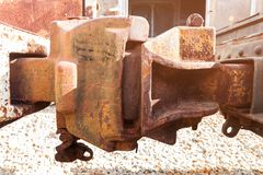 Old rust Rail joints Royalty Free Stock Photos