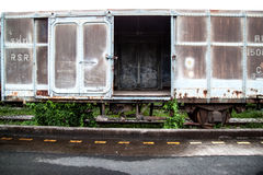 Old rust train. In Thailand for background Royalty Free Stock Photo