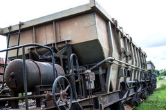 Old rust train. In Thailand for background Royalty Free Stock Photography