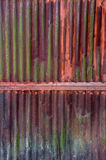 Old rust on zinc wall Stock Images