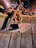 Old rusted anchor Royalty Free Stock Photography