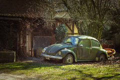 Oldtimer Beetle Royalty Free Stock Photo