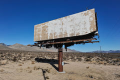 Old Rusted Blank Billboard By Road Royalty Free Stock Images
