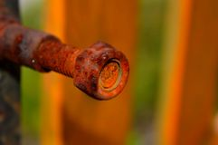 Old rusted bolt Royalty Free Stock Images