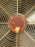 Old rusted broken air conditioner fan Royalty Free Stock Image