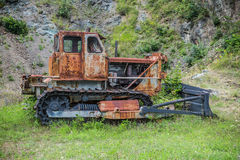Old rusted bulldozer . Royalty Free Stock Photos