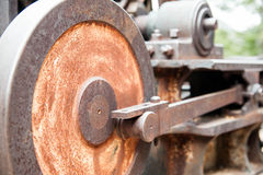 Old Rusted Cable Drum Drive Mechanism Stock Images