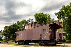Old rusted caboose Stock Image