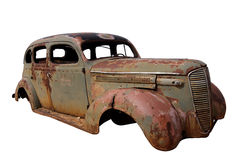 Old Rusted Car. With missing parts Royalty Free Stock Image